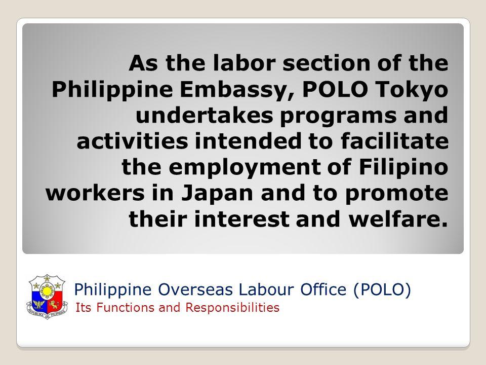 Clifford A  Paragua Labour Attache PHILIPPINE OVERSEAS LABOUR OFFICE