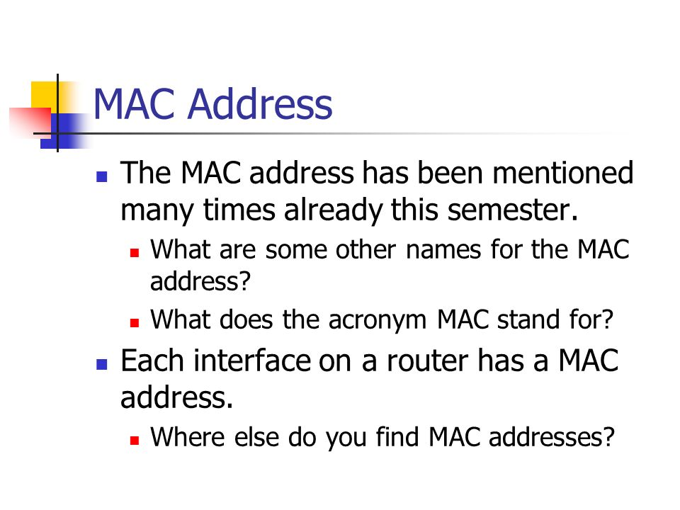 What does bia stand for mac address