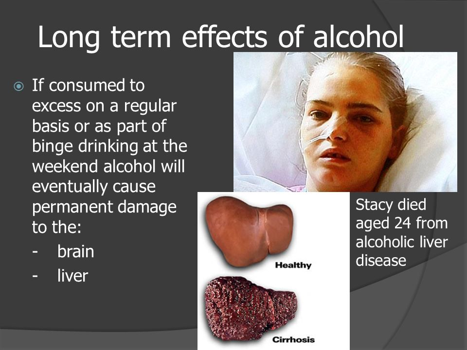 the effects of long term alcohol use Long-term effects of alcohol on the body the term used to describe this dire situation is alcohol poisoning in a person who establishes a pattern of heavy drinking, alcohol-related changes in the brain also set the stage for the development of alcoholism (ie, alcohol dependence.