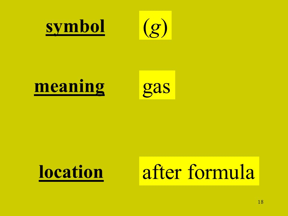 18 (g)(g) symbol gas meaning location after formula
