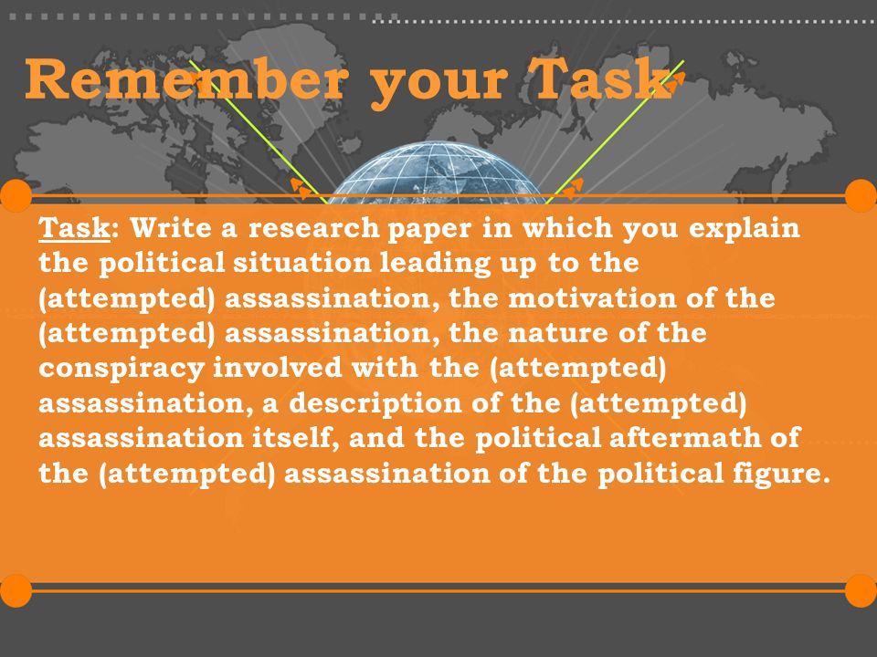 Assassination research paper free resume builder teacher