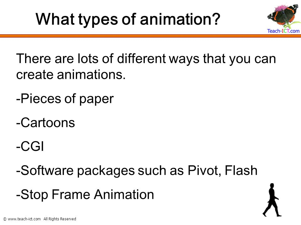 All Rights Reserved What is animation? Animation is a visual ...