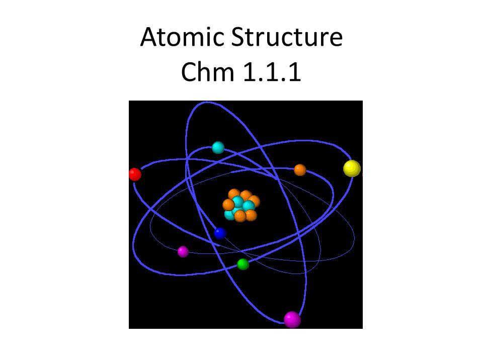 Atomic Structure Chm 1.1.1