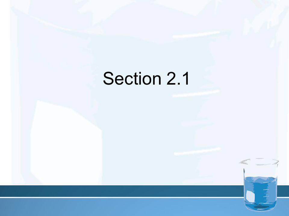 Section 2.1