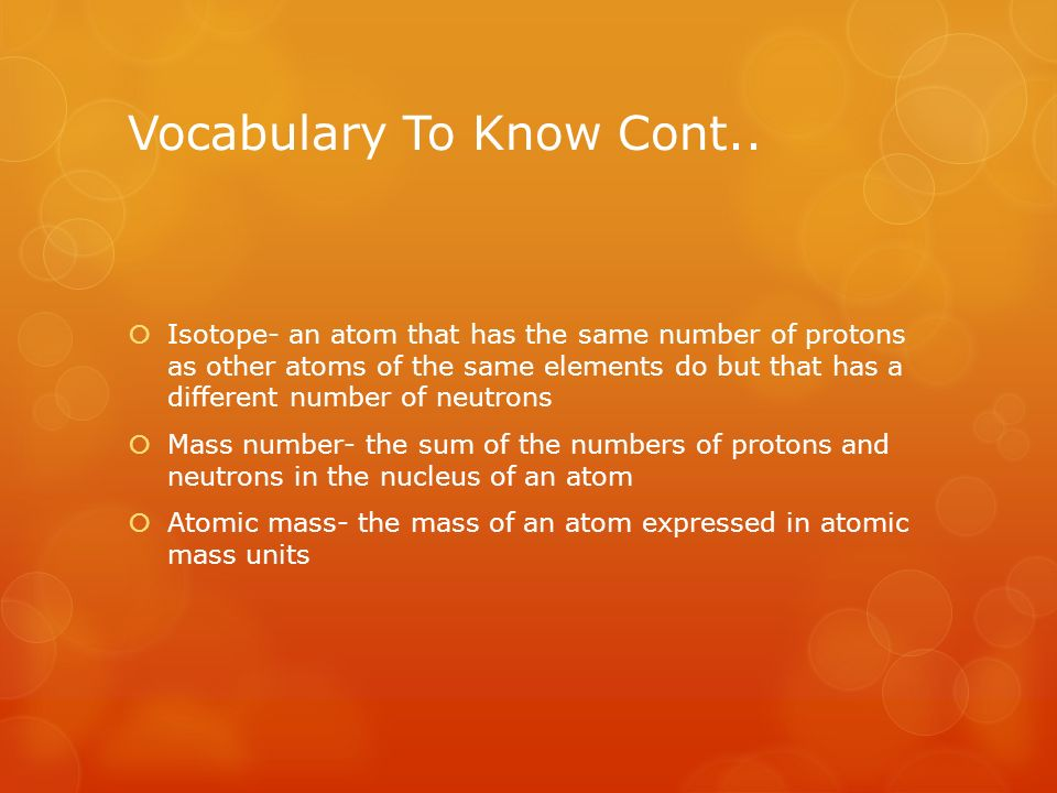 Vocabulary To Know Cont..