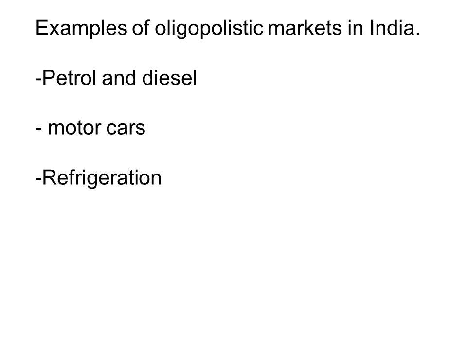 in an oligopolistic market there are