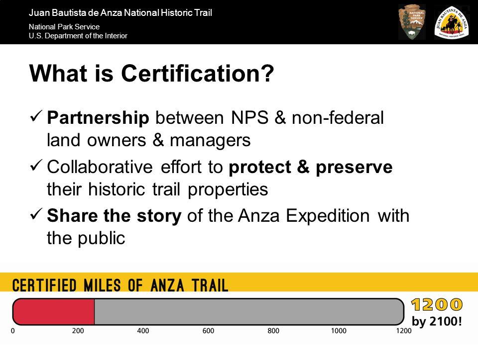 Juan Bautista De Anza National Historic Trail National Park Service