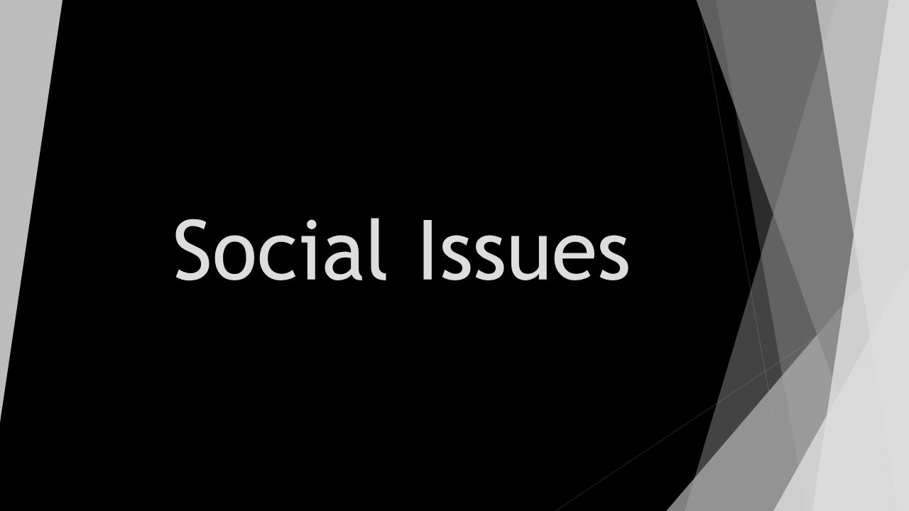 Social issues. Ppt video online download.