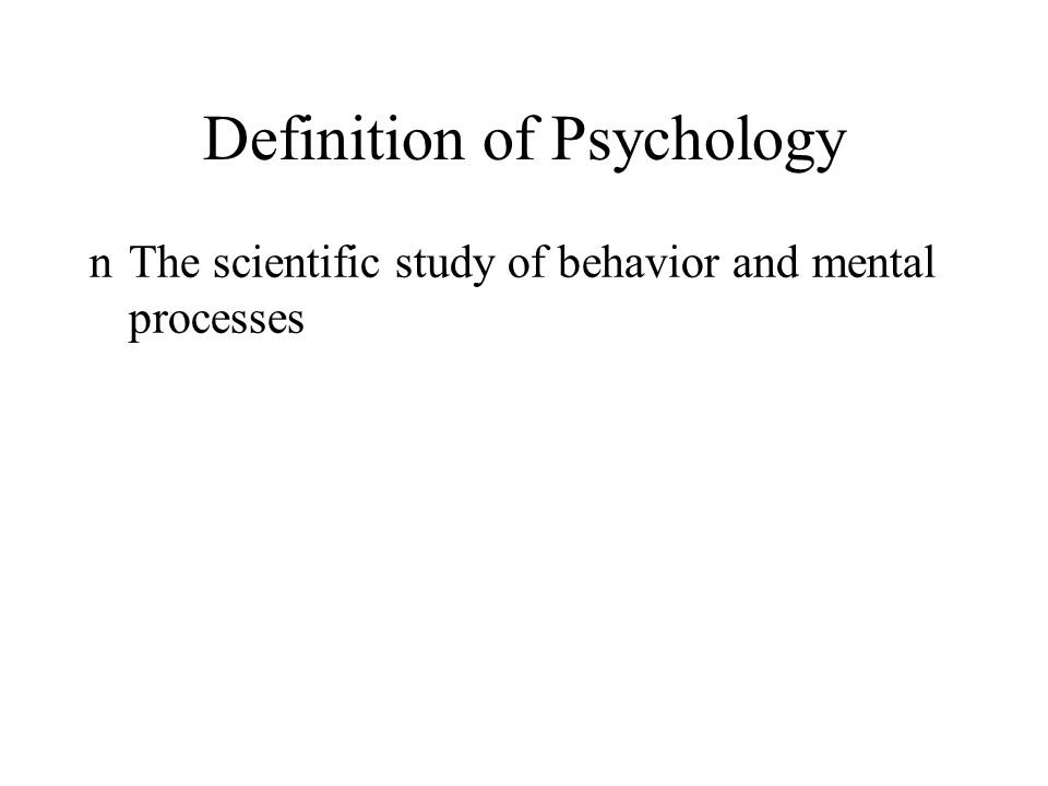Chapter 1 Introduction to Psychology KEY POINTS - CHAPTER 1