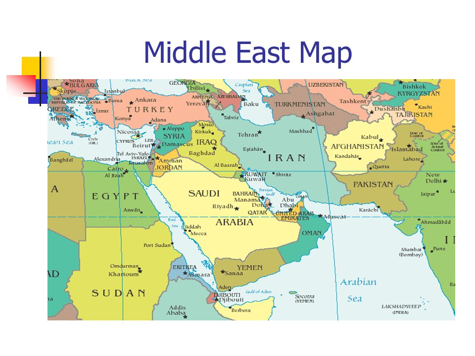 Middle East Map  Imagining the Middle East Look at the