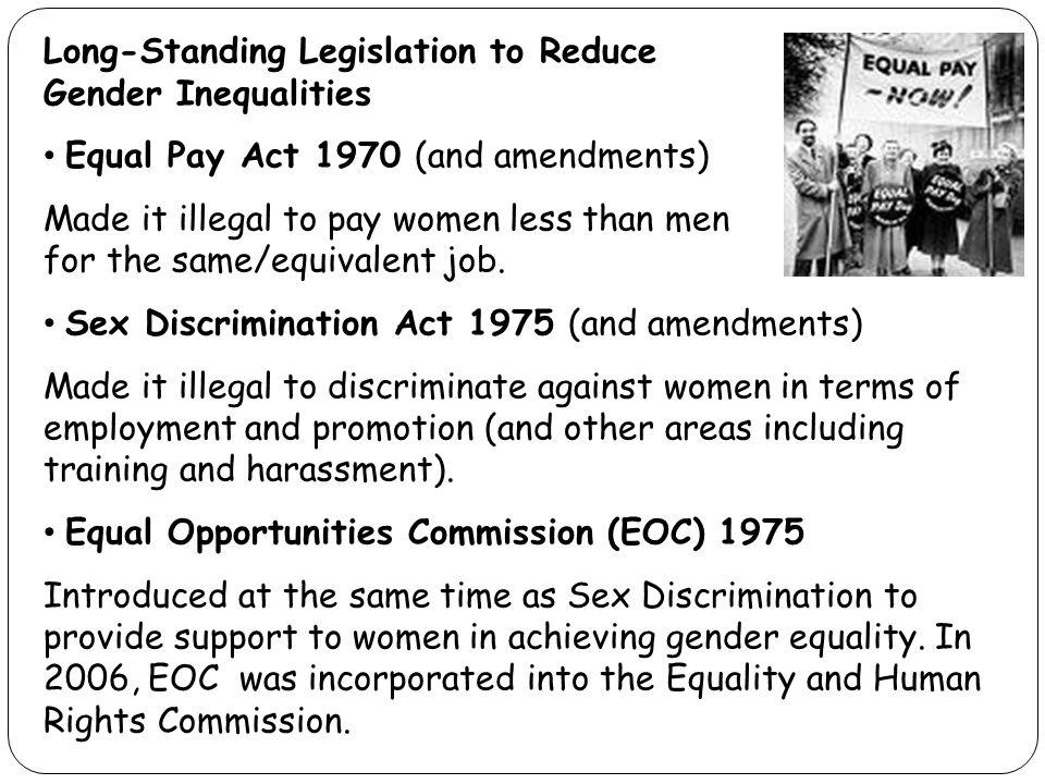 Sex discrimination act 1975 amendments