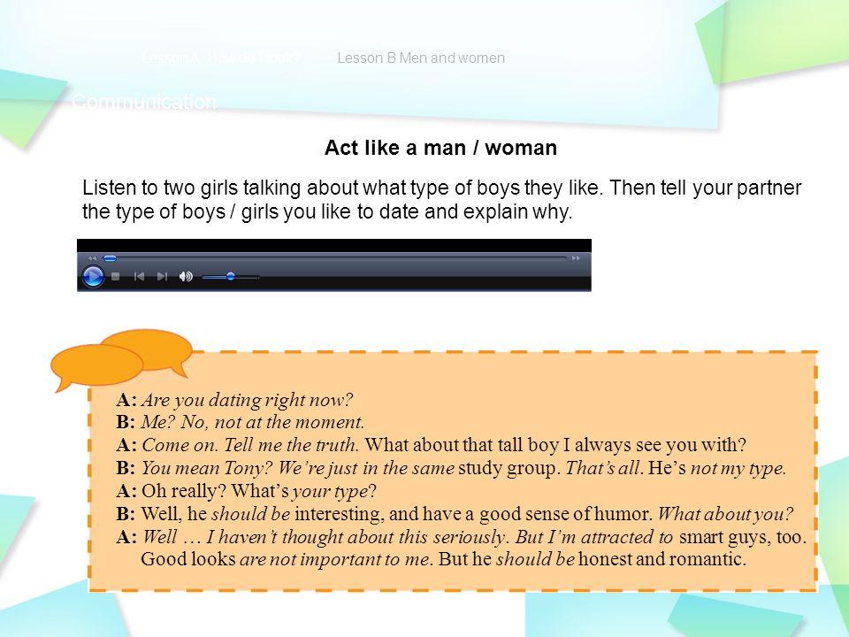 Girls dating a type b man