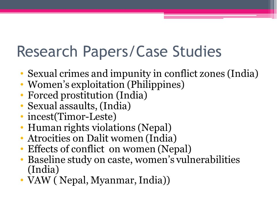 research on womens rights