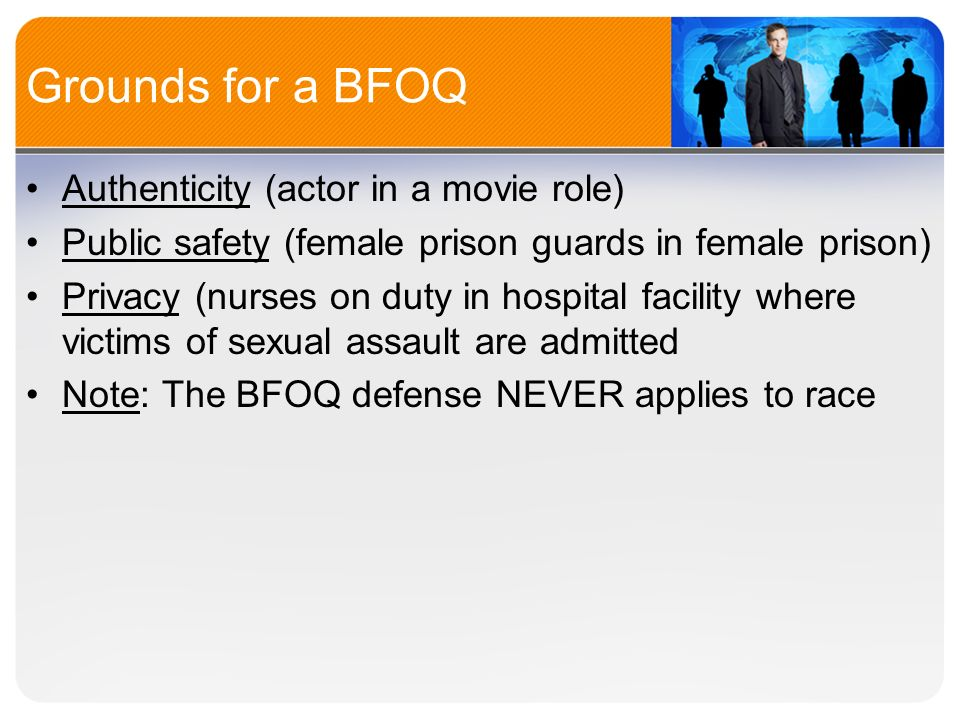 Bfoq protected class sexual orientation