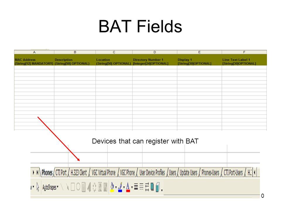 1 Bulk Administration Tool BAT Installation and