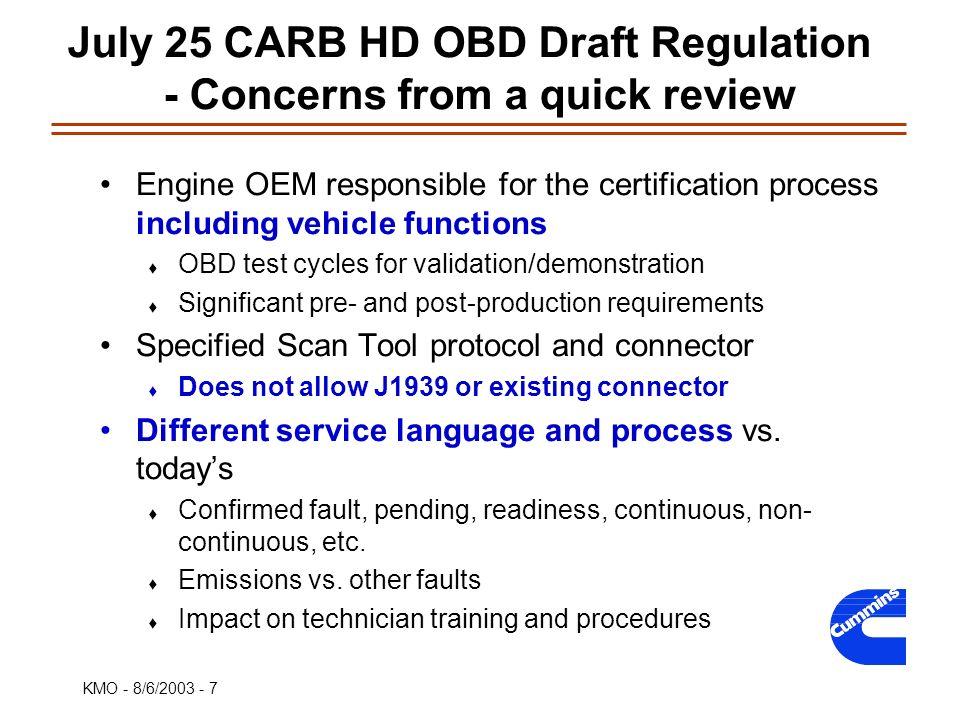 EPA Clean Diesel Engine Implementation Workshop Kevin Otto Cummins