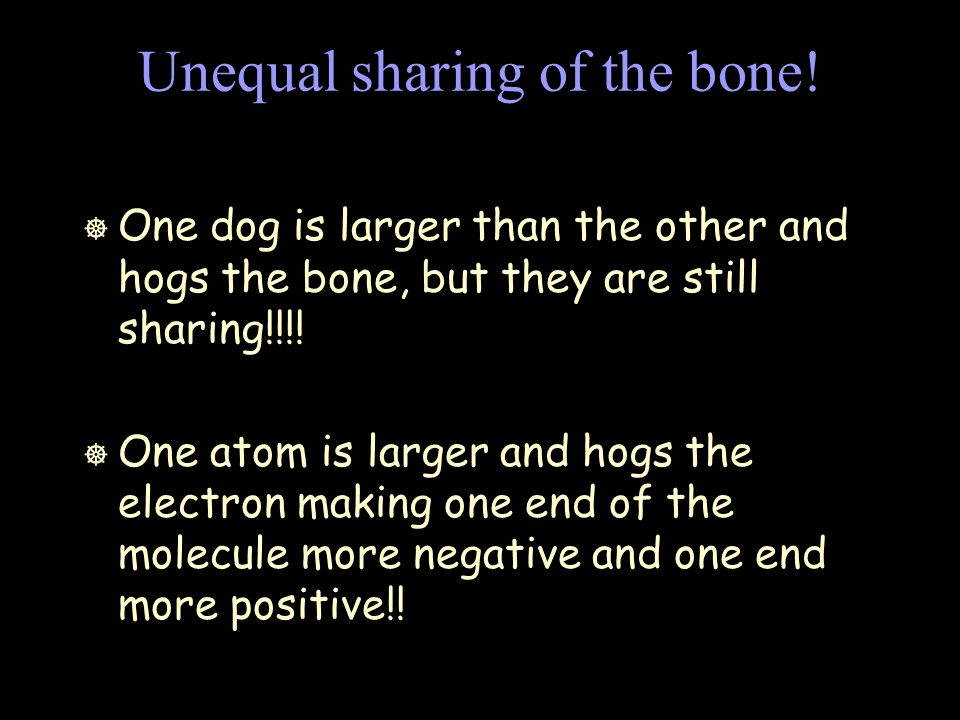 Unequal sharing of the bone.
