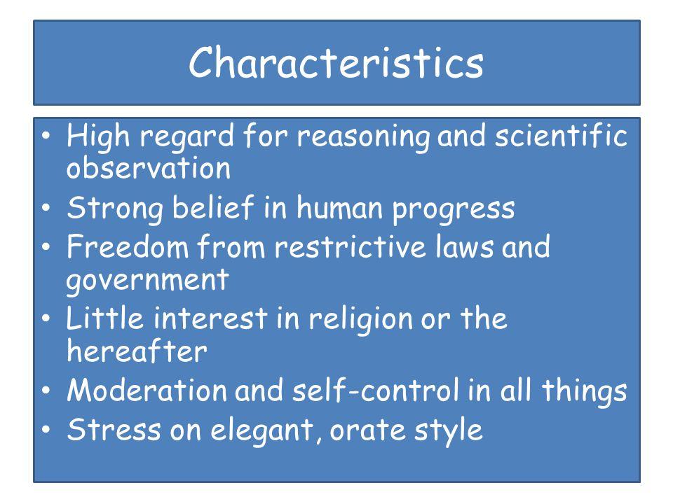 characteristics of belief