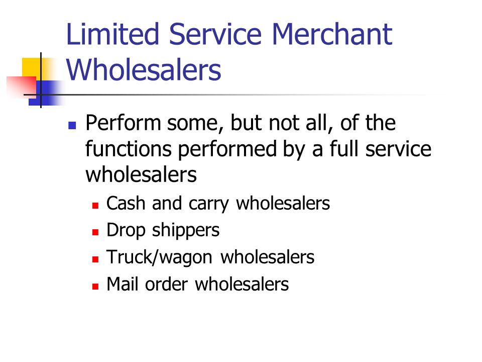 full service merchant wholesaler