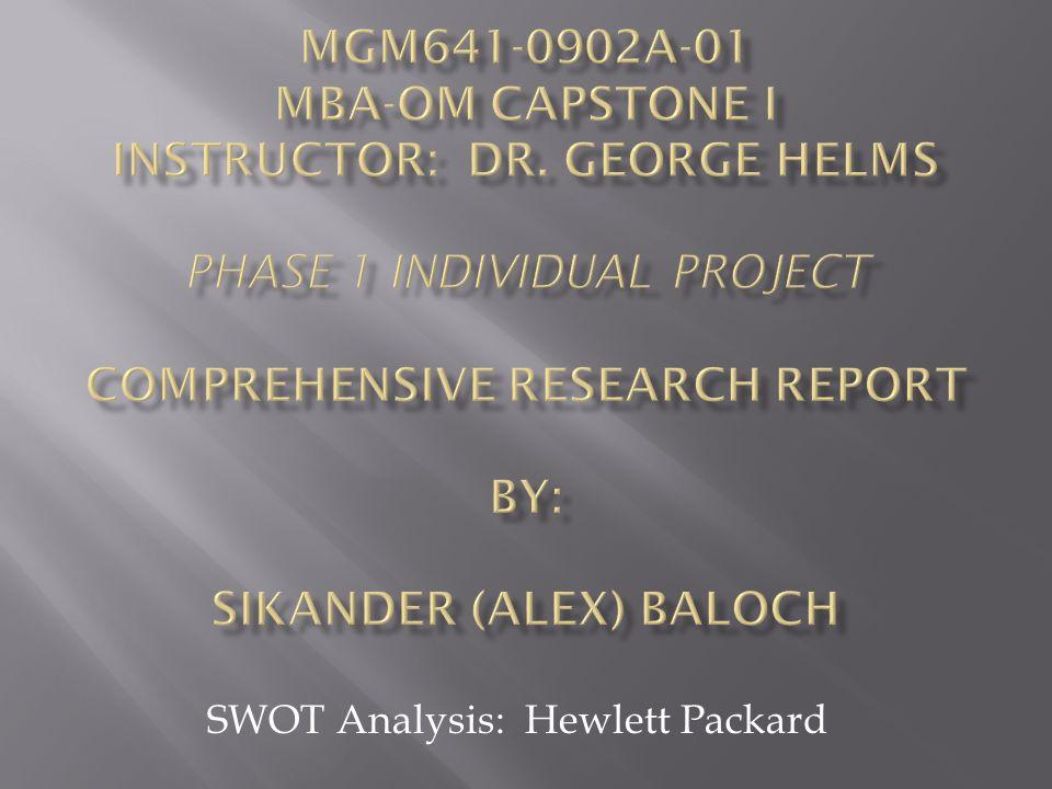hewlett packard swot analysis