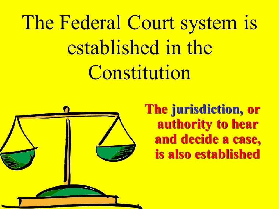 THE JUDICIAL BRANCH The Federal Court System established in Article III established in Article III