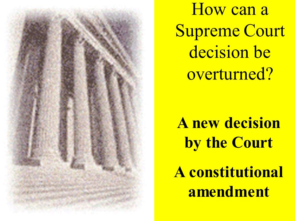 final authority The Supreme Court is the final authority on the Constitution and the laws of the United States.