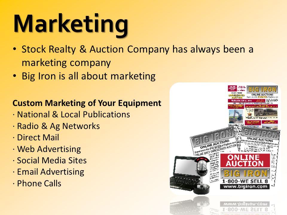 BigIron com Online Auctions  IR NAME Independent Sales