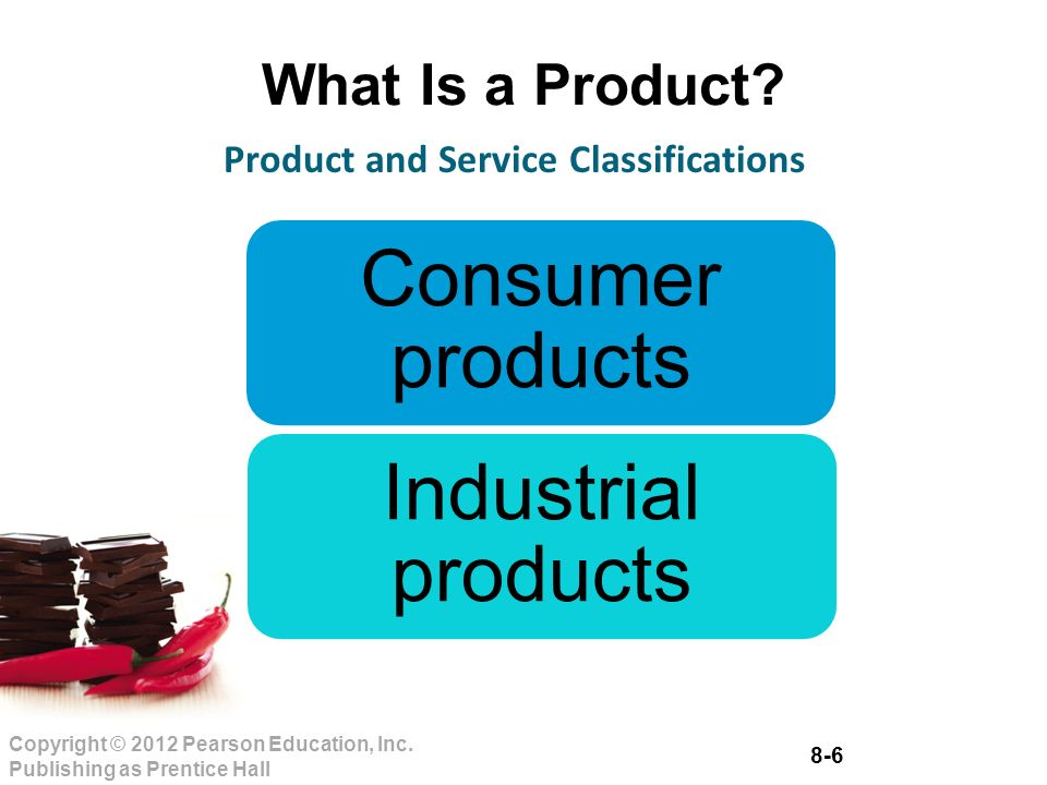 8-6 Copyright © 2012 Pearson Education, Inc. Publishing as Prentice Hall What Is a Product.