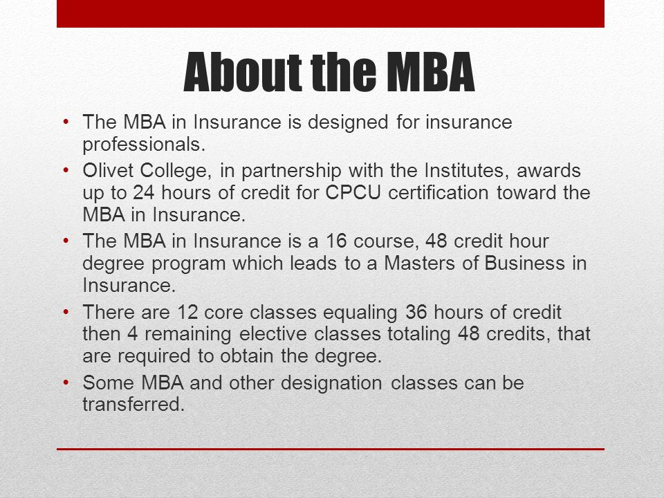 Mba In Insurance Are You Ready For The Next Step In Your Career