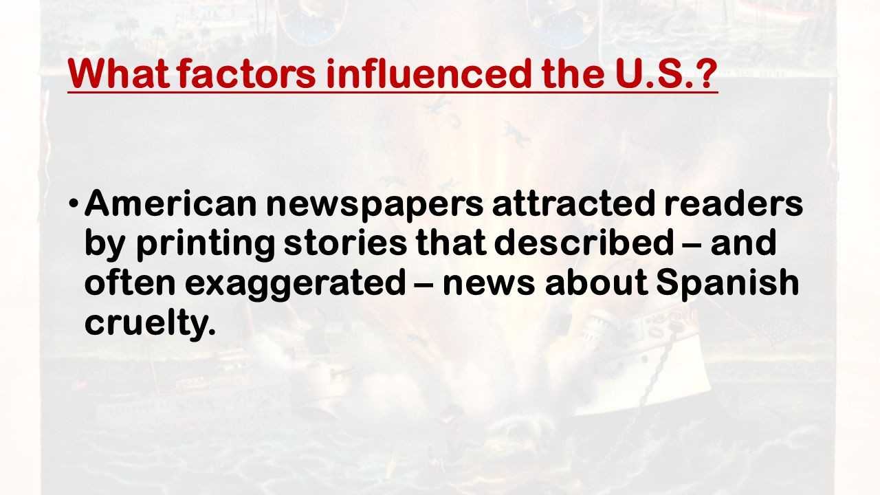 What factors influenced the U.S..