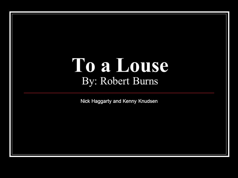 to a louse robert burns analysis