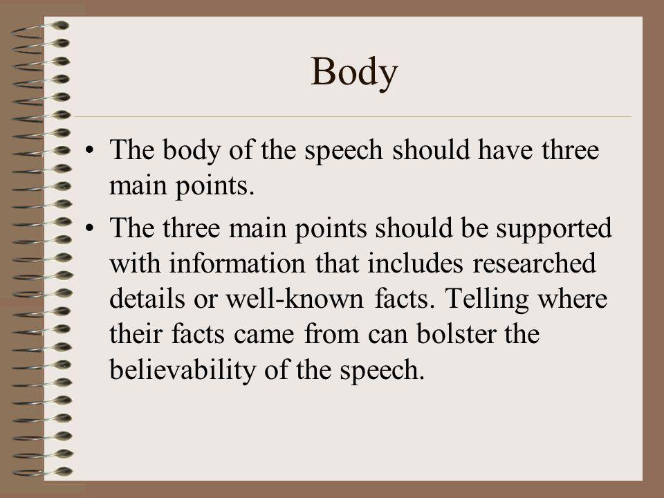 Essential Elements of a Speech. How to Write a Speech Writing a ...
