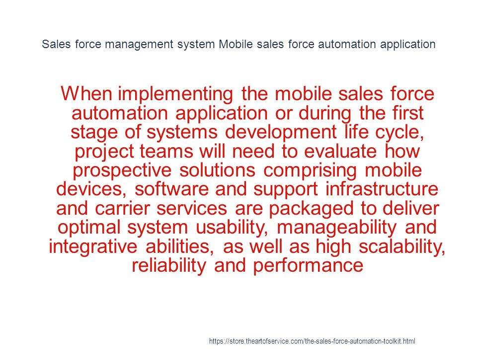 Sales Force Automation - ppt download