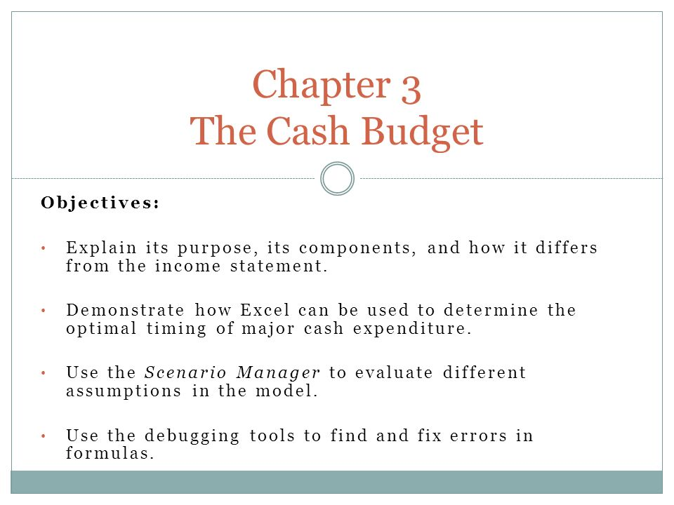 objectives explain its purpose its components and how it differs