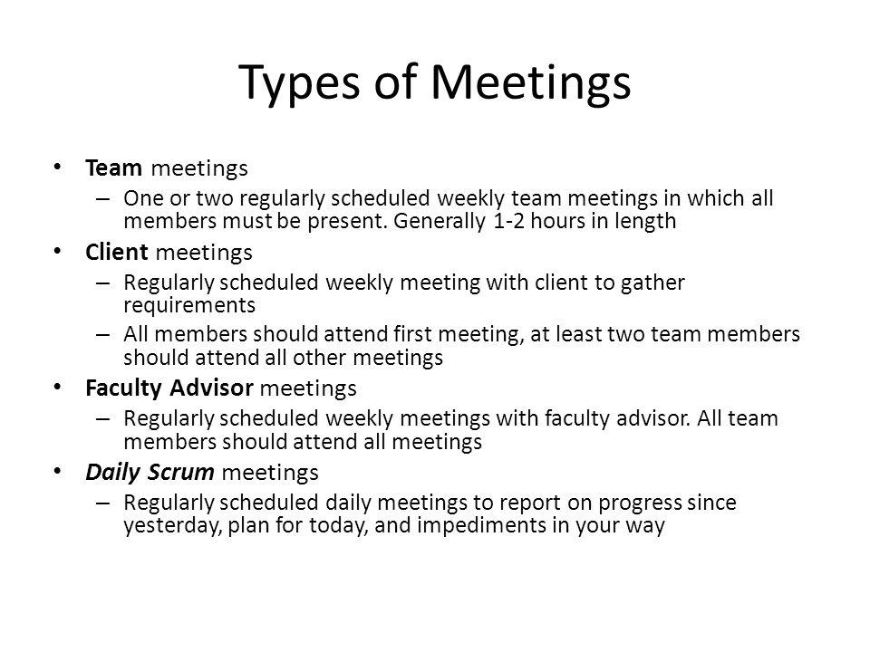 3 types of meetings
