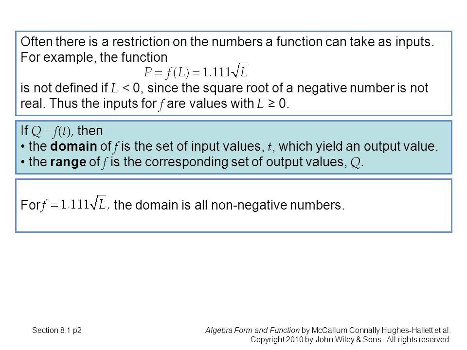 Algebra Form and Function by McCallum Connally Hughes-Hallett et al ...
