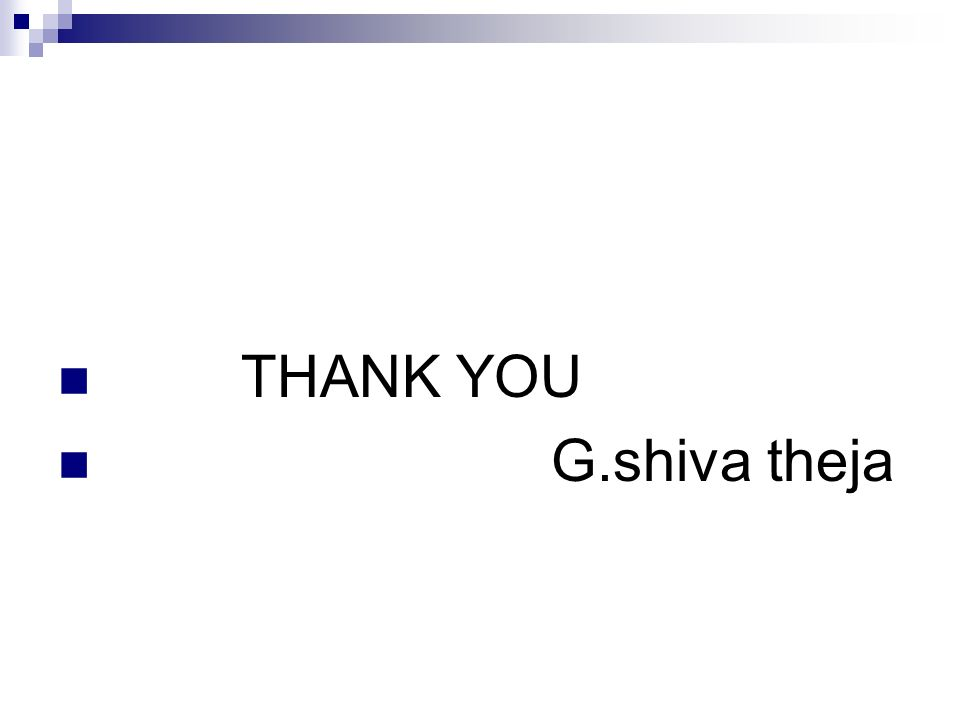 THANK YOU G.shiva theja