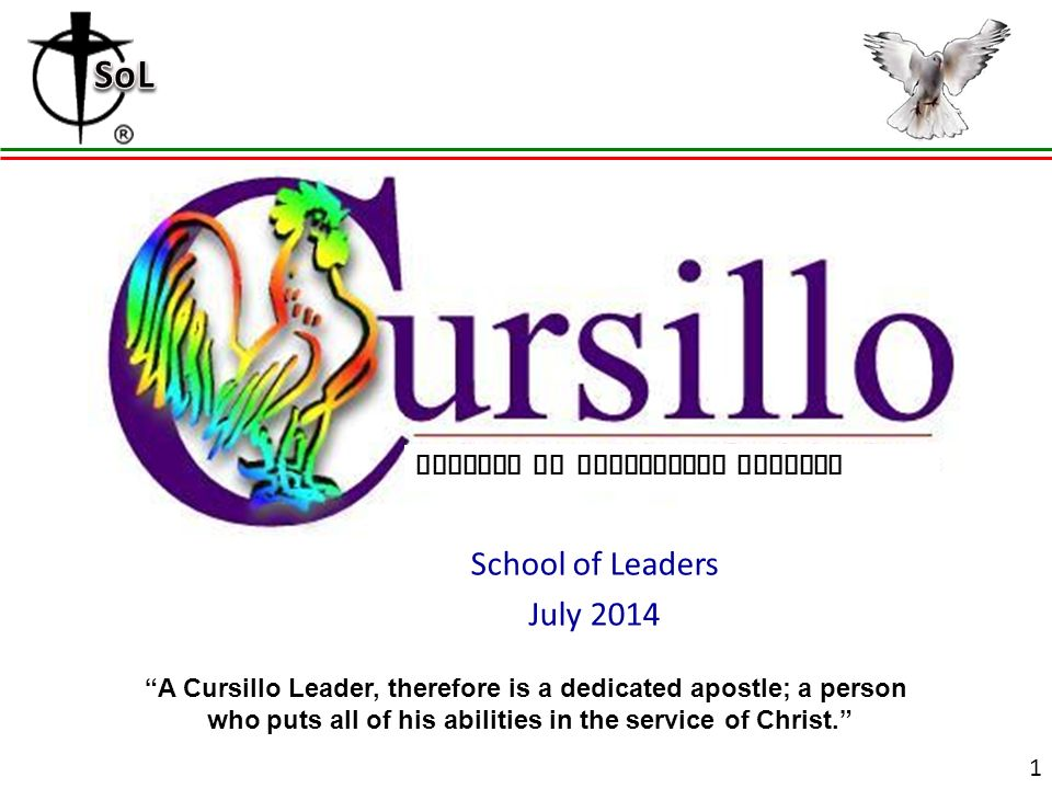 grouping school of leaders july diocese of birmingham alabama u201ca rh slideplayer com Cursillo Clip Art From Cursillo Logo