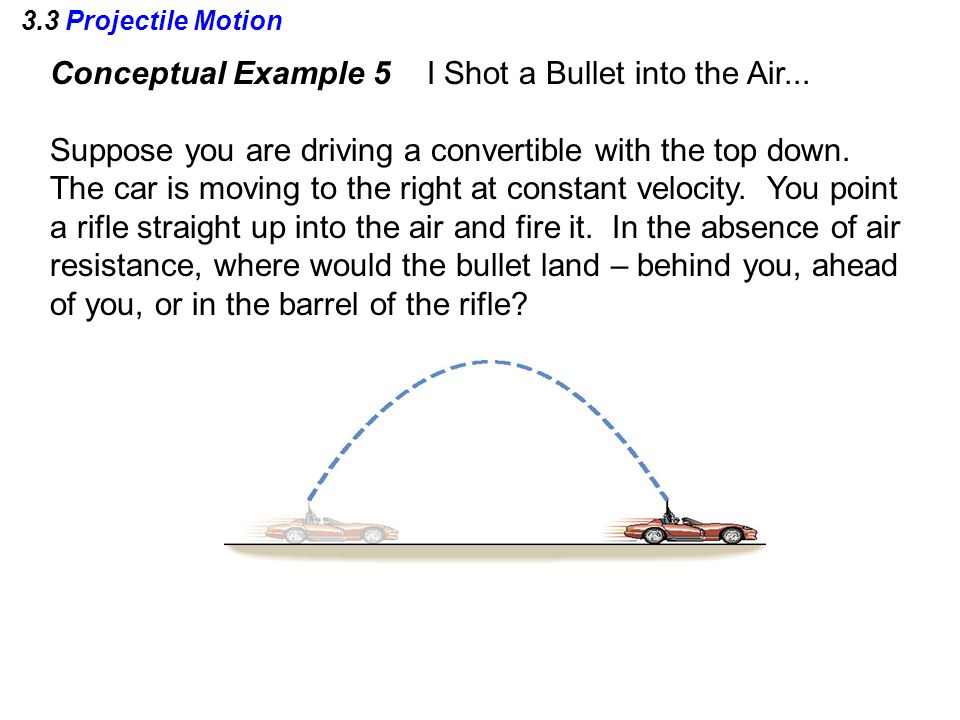 3.3 Projectile Motion Conceptual Example 5 I Shot a Bullet into the Air...