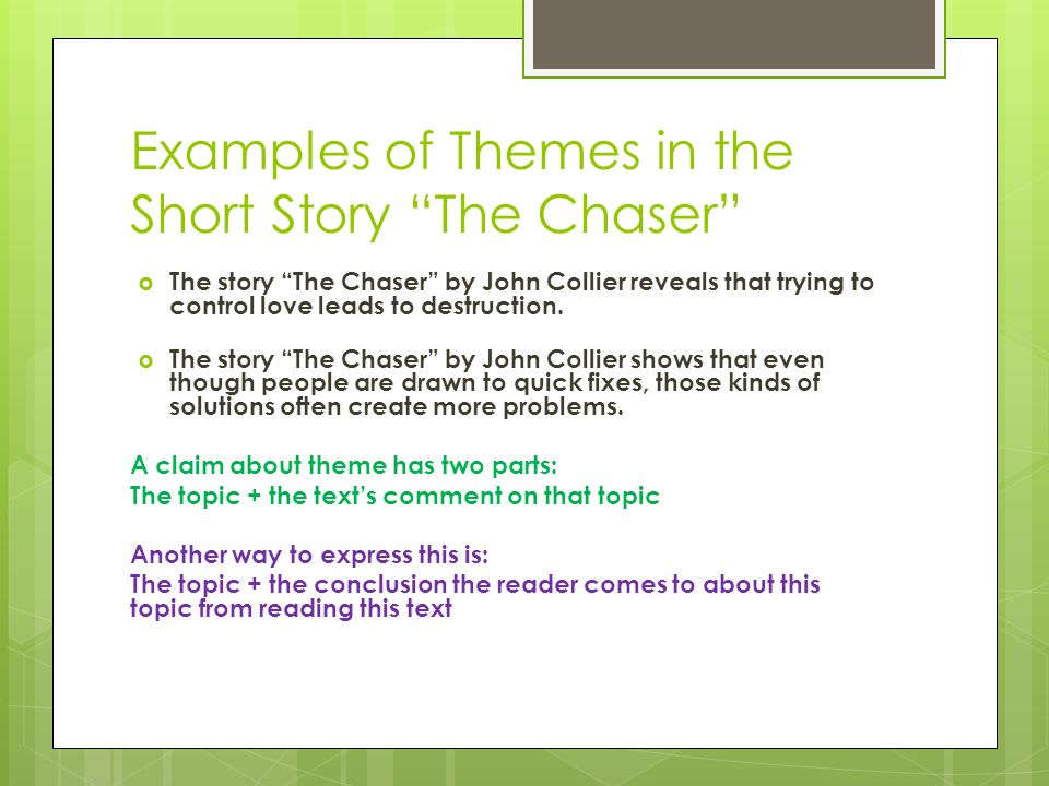 the chaser by john collier thesis statement