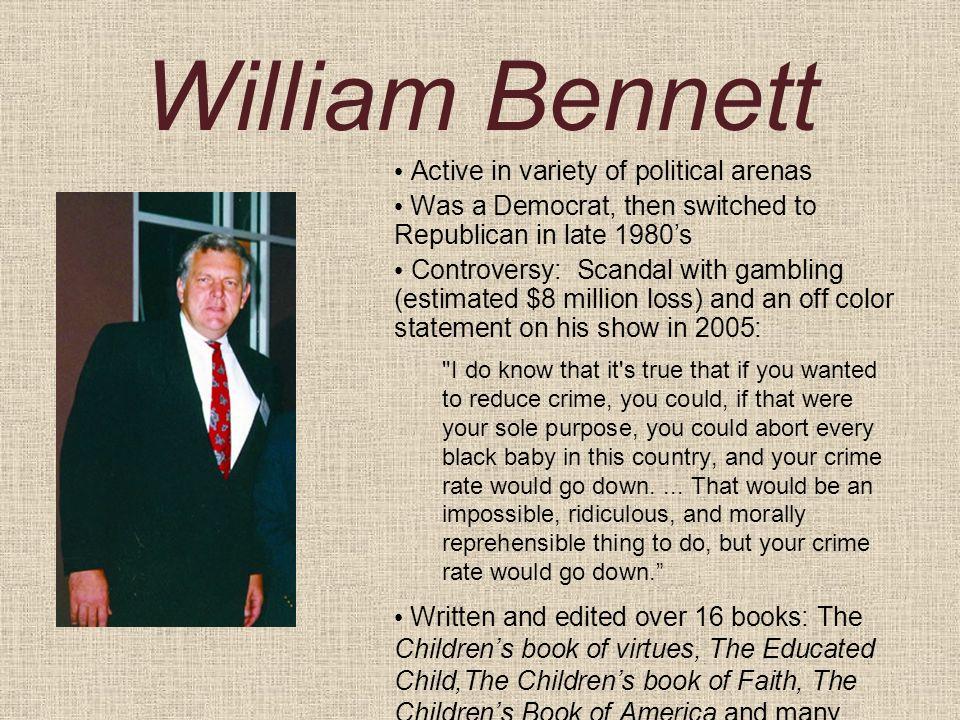 William bennett gambling losses hypnosis gambling free