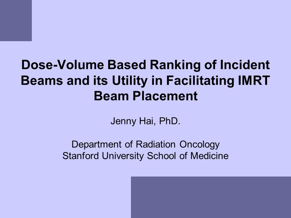 Dose-Volume Based Ranking of Incident Beams and its Utility in