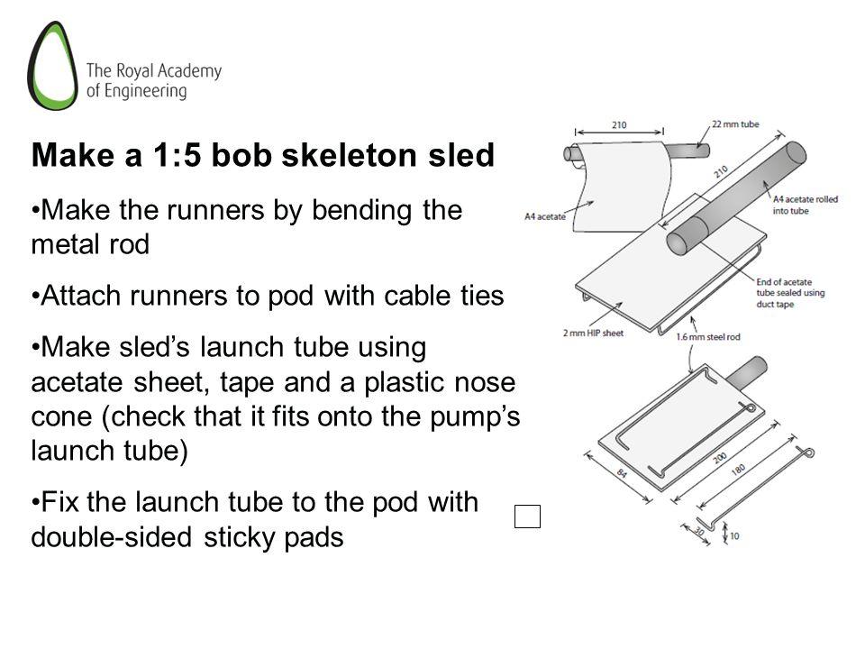 Year 9 STEM Club The Skeleton Luge  CHALLENGE Make a model