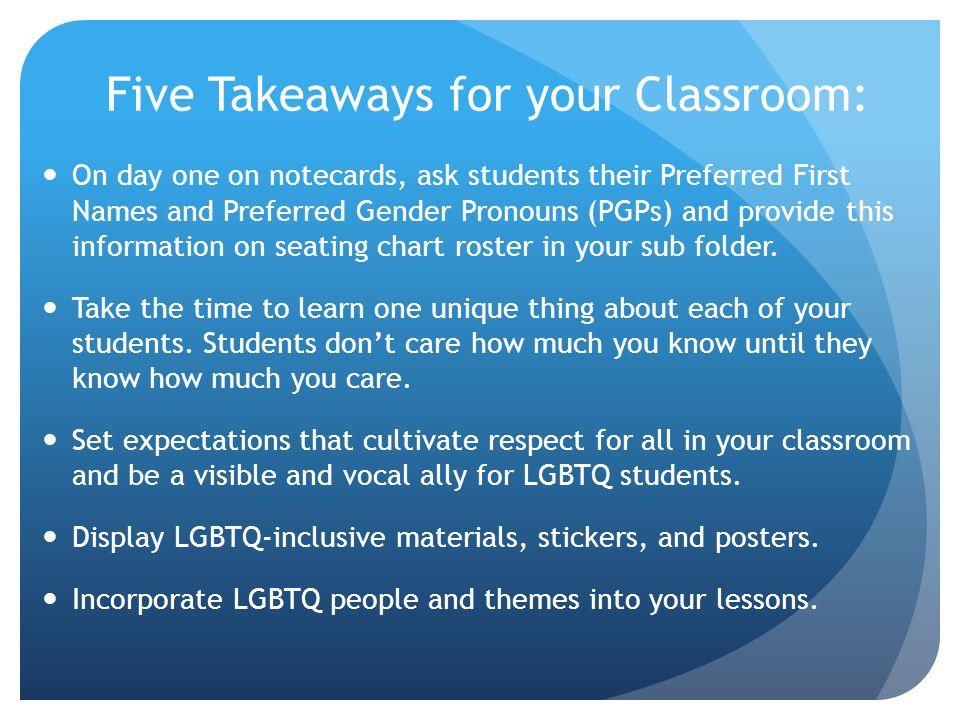 Creating an LGBTQ Inclusive Classroom LGBTQ Inclusive