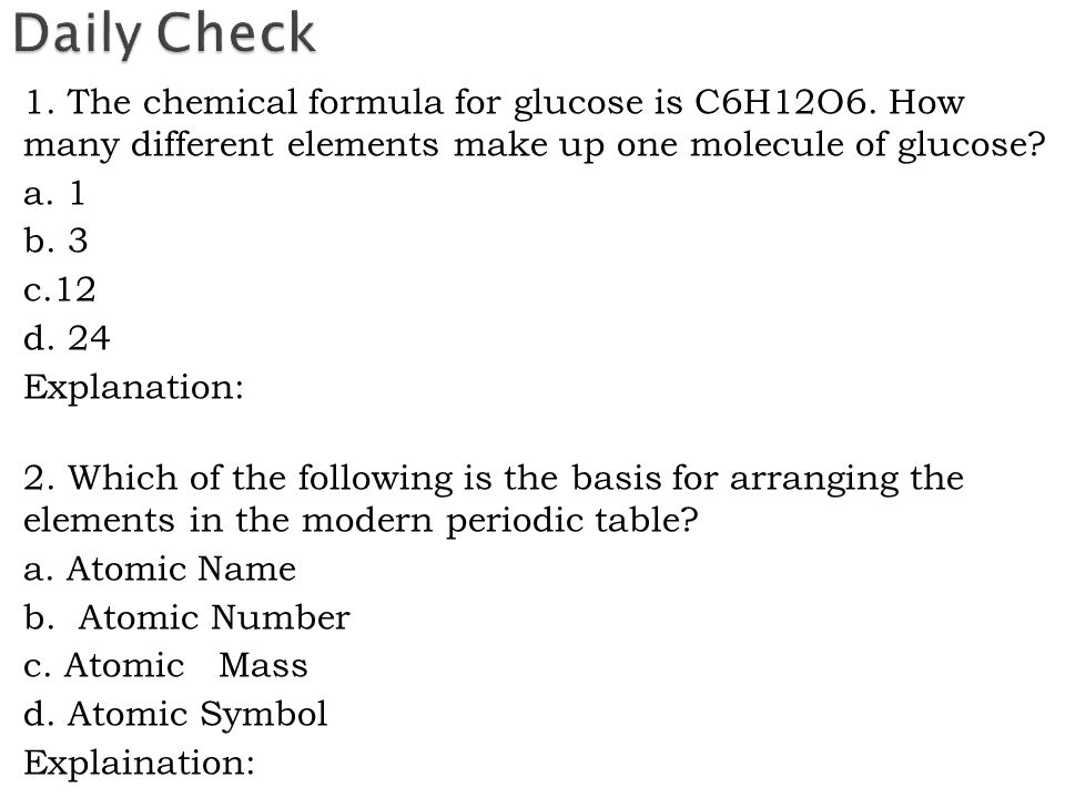 I will be able to explain the differences between pure substances the chemical formula for glucose is c6h12o6 urtaz Images