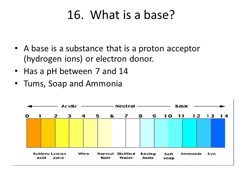 16. What is a base.
