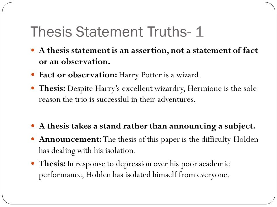 critical thesis statement A thesis statement expresses the conclusion you have reached on an issue or topic it is what you plan to prove with the evidence and reasoning presented a good initial thesis helps focus your information search.
