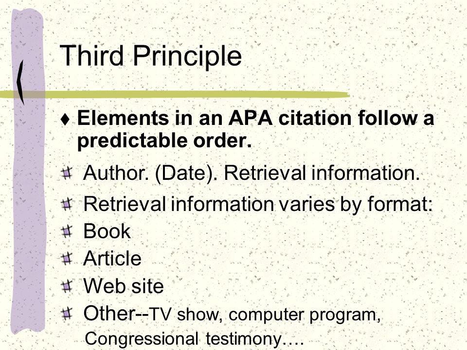 apa citation for tv show