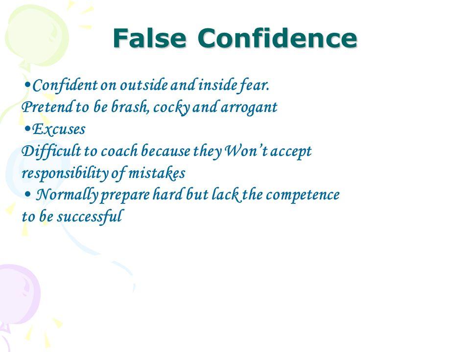 cocky vs confident