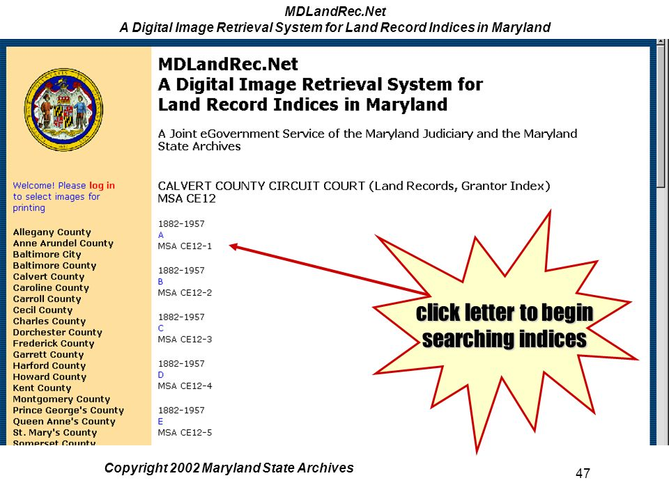 MDLandRec Net A Digital Image Retrieval System for Land Record